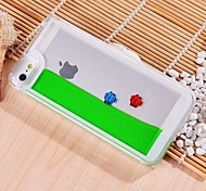 Built-in  Free Fish with Water Style  Transparent PC Case for iPhone 5/5S
