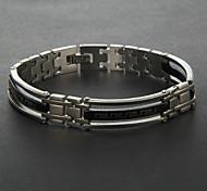 Bracelet en acier de titane argent de eruner®men