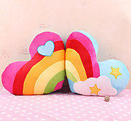 Colorful Heart Shaped Plush Bolster
