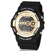 discagem esporte estilo ouro relógio elástico preto pulso dos homens