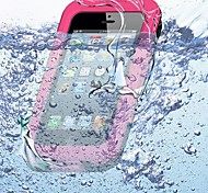 Colore solido impermeabile del silicone Custodia morbida per iPhone5/5S (colori assortiti)