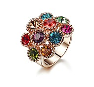 Colourful Shining Austria Crystal Ring