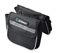 KHENG Waterproof Bike / Bicycle Top Tube Storage Bag / Double Bag - Black