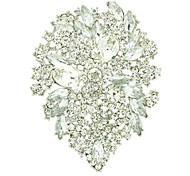 10.4cm Alloy and Rhinetone Floral Brooch Pin (More Color)
