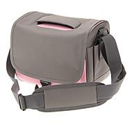 B888-PK One-Sholder Bolsa para Câmera / Filmadora (rosa + Gray)