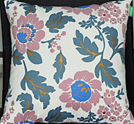 Green Flowers Pattern Decorative Pillow With Insert
