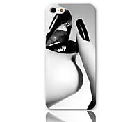 Sexy Lip Design Pattern Hard Case con 3 Paia protezioni per iPhone 5/5S