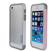 Fashion Double Color TPU-Rahmen Auto für iPhone5S (Pink + Weiß)