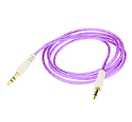 Audio jack de 3.5mm Cable colorido conexión (Purple 1.05m)