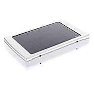 8000mAh Multi-Output Solar External Battery Silver for Mobile Device
