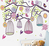 1шт красочные наклейки утро птичья клетка стены