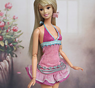 Casual Dresses For Barbie Doll Pink Dresses