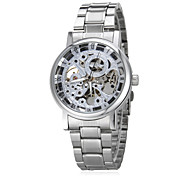 Men's Auto-Mechanical Retro Skeleton Steel Band Wrist Watch (Assorted Colors)