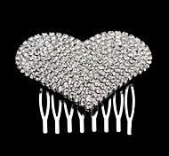 Lovely Heart Shape Rhinestone Wedding Bridal Hair Comb