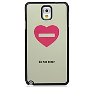 Do Not In Pattern Hard Case voor Samsung Galaxy Note N9000 3