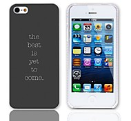 Sentence Design Hard Case with 3-Pack Screen Protectors for iPhone 5/5S