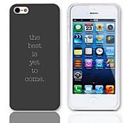 Sentença Projeto Hard Case com protetores de tela de 3-Pack para iPhone 5/5S