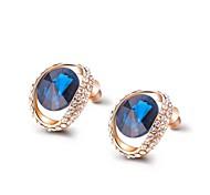 clássico azul zircão brincos de cristal