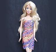 Barbie Doll Fashion Paillette Gradient Dress