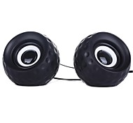Music-F High Quality Stereo USB 2.0Multimedia Speaker E-11(Black+White)