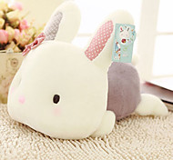 20cm Pink Lying Rabbit Shaped Plush Doll