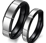 les amoureux de la mode en acier inoxydable incrustés tourbillon couple zircon anneaux (2 pcs)