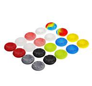 20pcs 10 colori levetta copertura della pelle impugnature per xbox ps3 360 una wii u (colori assortiti)