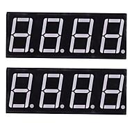 compatible (para Arduino) Módulo de visualización de 12-pin de 4 dígitos (2 unidades)