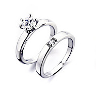 Silberhochzeits-Paar Ring