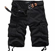 Men's Solid Casual Shorts / Sweatpants,Cotton