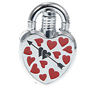 Heart Lock Metal Windproof Gas Lighter(Random Color)