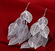 Fashion versilbert Zink-Legierung Blatt Ohrringe (1 Paar)
