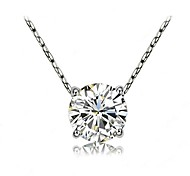 hining Clear Crytal imulated Diamond Pendant Necklace