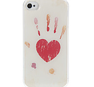 Love In Your Hands Pattern Epoxy Hard Case for iPhone 4/4S