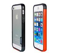 Fashion Double Color TPU Frame Bumper for iPhone5S(Black+Orange)