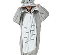 Kigurumi Pijamas Gato / Totoro Malha Collant/Pijama Macacão Festival/Celebração Pijamas Animal Branco / Cinzento MiscelâneaVelocino de