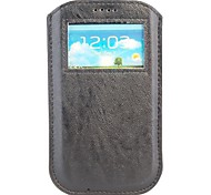 Caller Display Pouch leather Cover for Samsung Galaxy S4 I9500
