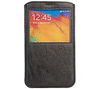 Caller Display Pouch leather Cover For Samsung Galaxy Note 3 N9000