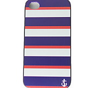 Preto Azul Navy Padrão Hard Cases para iPhone 4/4S