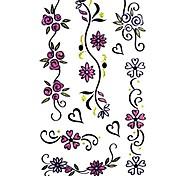 5 Stück Blumen-Wasserdicht Tattoo (9,5 cm * 19,5 cm)