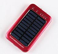 Портативный USB Солнечное зарядное устройство для IPhone / IPod / Samsung и другие смартфон (розовый 2600 мАч)