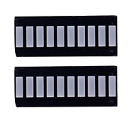 10 Segmento digital LED Rojo Bar Display (2PCS)