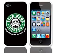 Forth Be with You Design Hard Case with 3-Pack Screen Protectors for iPhone 4/4S