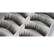 10 pares Pro mão da alta qualidade feito de fibra de cabelo sintético grosso Longo Estilo cílios postiços