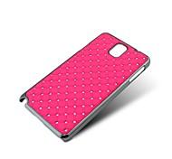 Für Samsung Galaxy Note Strass / Beschichtung Hülle Rückseitenabdeckung Hülle Geometrische Muster PC Samsung Note 3