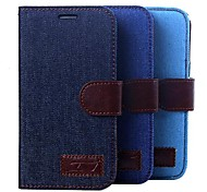 For Samsung Galaxy Case Card Holder / Wallet / Flip Case Full Body Case Solid Color PU Leather Samsung Grand