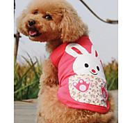 Pet Прекрасные Кролик PrintedT майки Собаки (разных цветов, размеров)
