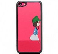 Girl Pattern  Hard  Case for iPhone 5C