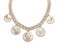Europa und Amerika Stil (Circles Avatar Pattern) zogene Legierungs-dicke Kette Erklärung Halskette (Gold Color) (1 PC)