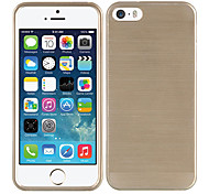 Simple Design Gold Drawbench Purity Plastic Back Case for iPhone 5/5S